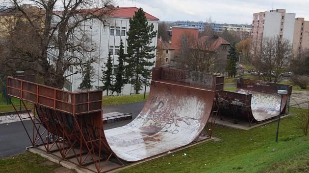 Skatepark v Žatci, prosinec 2019