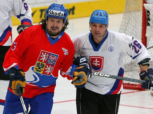 Slavomír Švancar (vlevo) na mistrovství světa v Plzni.