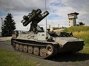 Během prvního týdne cvičení probíhají také nácviky na bojové střelby. Na snímku protiletadlový raketový komplet S-10M během nácviku na střelnici Březina