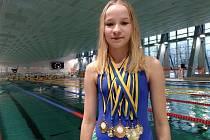 Plavkyně Jitka Hornofová přivezla z Německa šest  zlatých medailí.