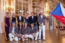 Představení nástupové kolekce ošacení pro hry v brazilském Riu po nominačním plénu Českého olympijského výboru na Pražském hradě.