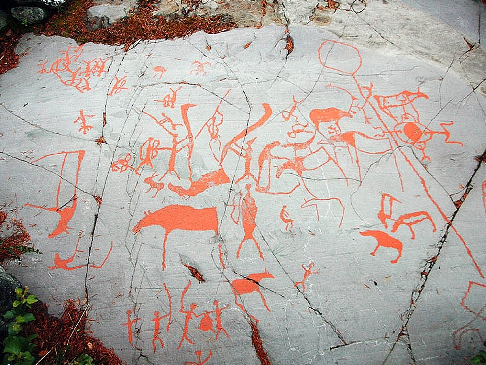 Tisíce let staré skalní malby ve městě Alta, které jsou zapsány na seznam Světového dědictví UNESCO