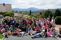 Děti ze ZŠ Petra Bezruče Žatec u Železné Rudy na Šumavě