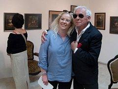 Jan Saudek si nenechal ujít zahájení své výstavy v Černčicích u Loun