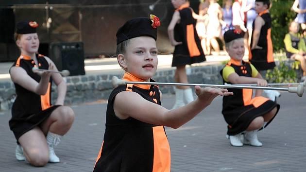 Poslední příprava na národní šampionát mažoretek v Žatci.