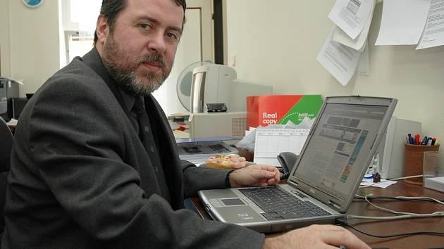 Erich Knoblauch, starosta Žatce, při on-line rozhovoru s čtenáři Deníku.