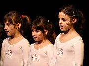 Lounská Mateřinka 2015. Rodiče a další příbuzné v divadle přivítaly písničkou děti z pořádající Soukromé MŠ Mateřinka Louny