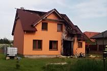 Požár rodinného domu v Černčicích