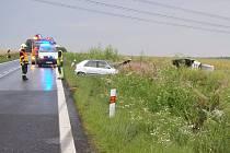 V neděli večer hasiči zasahovali u nehody dvou aut u Radíčevsi.