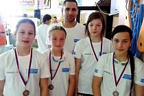 Žatecké plavkyně s medailemi