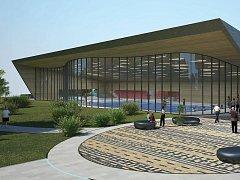 Možná budoucí podoba Městské plavecké haly v Lounech