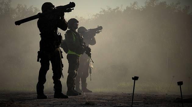 Ostré střelby při protiletadlovém cvičení Tobruq Legacy na Doupově