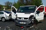 Hromadná nehoda na silnici I/7 u Postoloprt