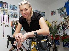 Cyklistka Lucie Záleská ve své domácí síni slávy