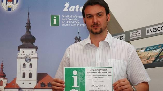Vedoucí žateckého infocentra Jan Novotný.