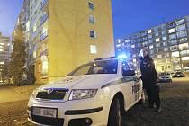Policisté místo, kam mladík dopadl, obehnali páskou.