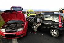 Hromadná nehoda u Sýrovic ve středu 13. října