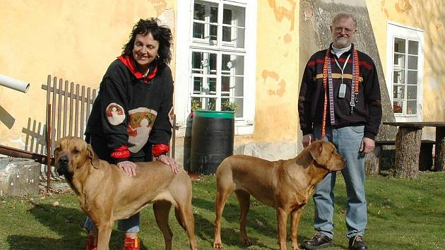 Roland Nilsson a jeho manželka Dagmar maji psi perfektně zvládnuté.