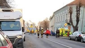 Nehoda v Karlově ulici v Lounech