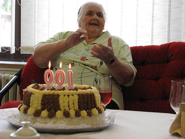 Rosa Zipsová oslavila 100. narozeniny