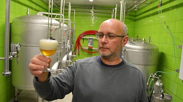Sládek v žateckém Chrámu chmele a piva Petr Wiesinger