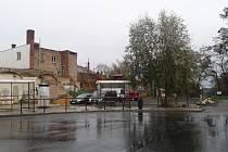 Pozemek u žateckého autobusového nádraží, kde stávala Střelnice