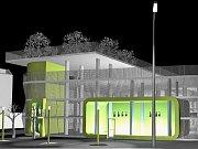 Studie parkovacího domu, který by mohl stát v Lounech na Rynečku