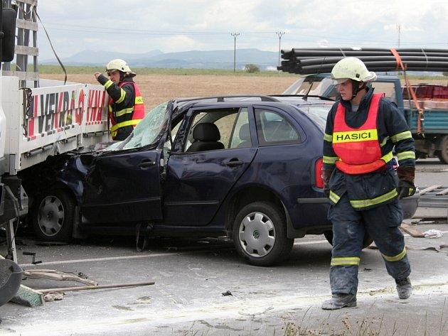 """Nehoda na """"križovatce smrti"""" v úterý 26. června."""