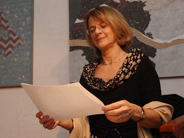 Taťjana Medvecká při adventním recitálu ve Smolnici vroce 2012