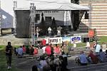 Amfiteátr na lounském výstavišti slouží při slavnostech Letní lounské vábení jako scéna pro folk & country scénu. Archivní foto