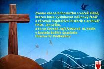 Bohoslužba s novým farářem se v Podbořanech uskuteční ve čtvrtek.