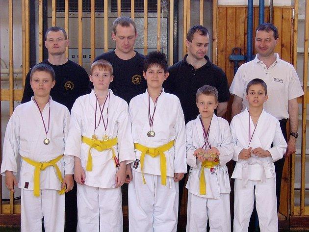Karatisté Shotokan karate clubu Louny.