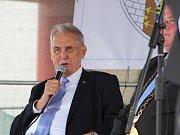Miloš Zeman navštívil v úterý 19. června Podbořany.