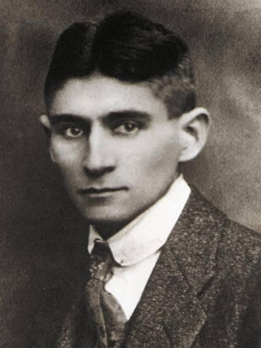 Franz Kafka na reprodukci snímku z archivu Muzea Franze Kafky Praha