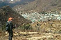 Petra a Štěpán Kotkovi z Loun dorazili do Namche Bazaaru v Nepálu