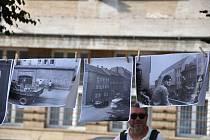 Ve čtvrtek 20. srpna si na Mírovém náměstí v Lounech lidé připomenuli výročí okupace Československa vojsky Varšavské smlouvy v roce 1968.