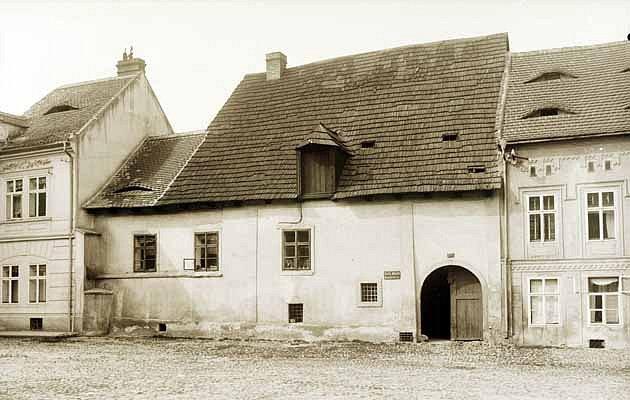 Mederův dům na historickém snímku