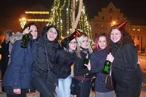 Silvestrovské oslavy na náměstí Svobody v Žatci