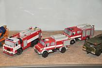 Výstava Svět papírových modelů v lounském muzeu.
