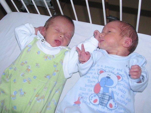 Mamince Daně Daniové z Lenešic se 12. listopadu narodila dvojčata Jan Koželuh (2,6 kg a 48 cm) a Lukáš Koželuh (2,5 kg a 47 cm).