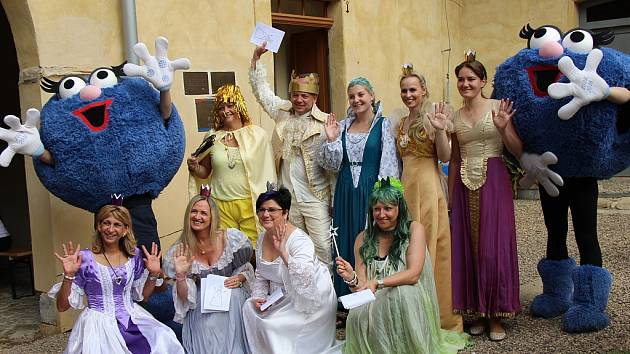 Na děti v Jimlíně čekaly princezny a další pohádkové postavy.