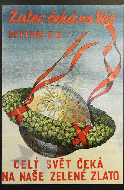 Plakát na Dočesnou zroku 1959, který zhotovil známý malíř Oskar Brázda.