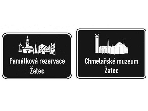 Nové dopravní značky, které budou lákat na turistické cíle v Žatci.