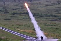 Cvičení protivzdušných jednotek na Doupově