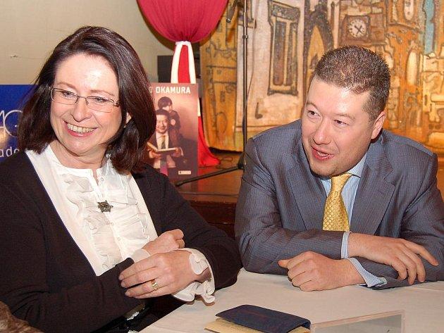 Tomio Okamura a Miroslava Němcová