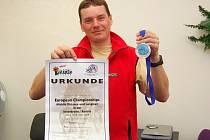 Ze závodů mistrovství Evropy si Roman Habásko přivezl medaili a diplom za druhé místo.