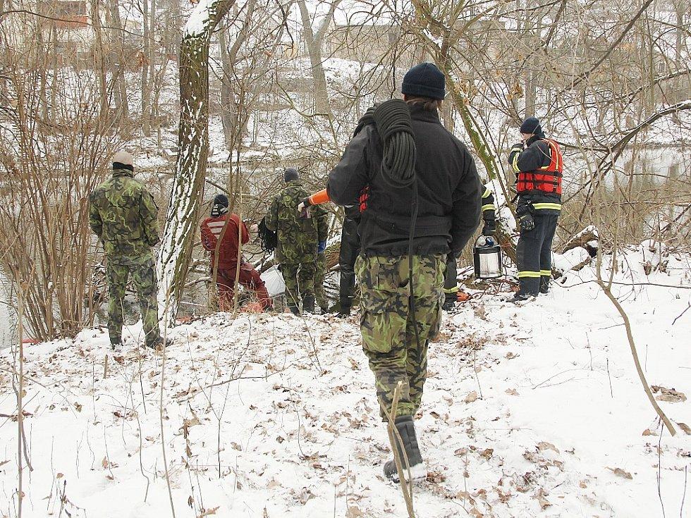 Místo nálezu těla nedaleko Vršovic