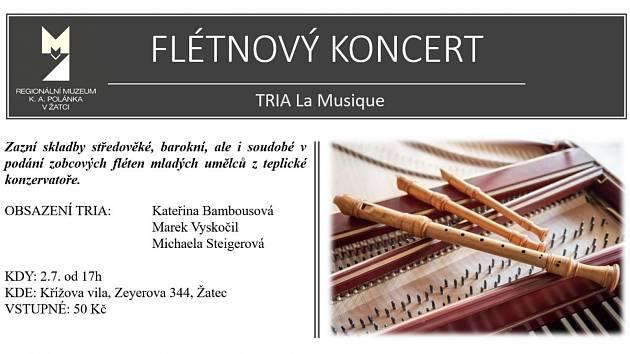 V Křížově vile v Žatci bude Flétnový koncert.