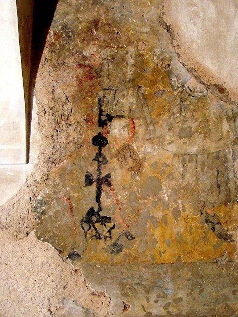 Nově objevené fresky na zámku Nový Hrad vJimlíně