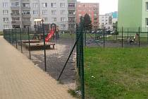 Dětské hřiště v Růžové ulici v Žatci
